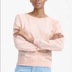 EVERLANE Slim Classic French Terry Crew sweatshirt
